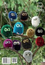 King Cole Tinsel Chunky - 9022 Owls Knitting Pattern